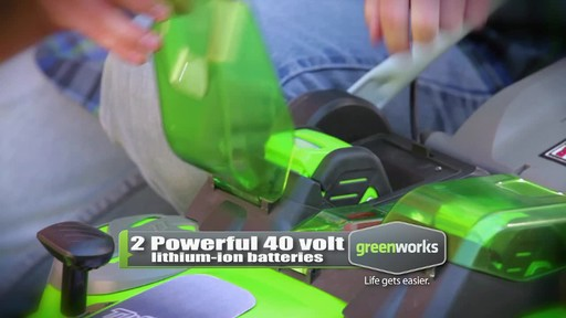 GreenWorks TwinForce 40V 20-in Lithium Cordless Mower - image 5 from the video
