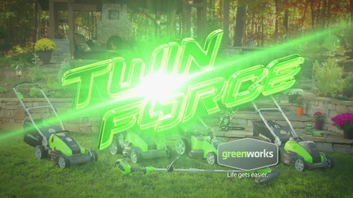 GreenWorks TwinForce 40V 20-in Lithium Cordless Mower - image 8 from the video