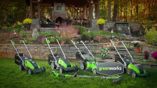 GreenWorks TwinForce 40V 20-in Lithium Cordless Mower - image 9 from the video