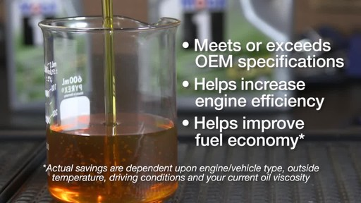 Mobil 1 Advanced Fuel Economy 0W-20 Synthetic Motor Oil - image 7 from the video