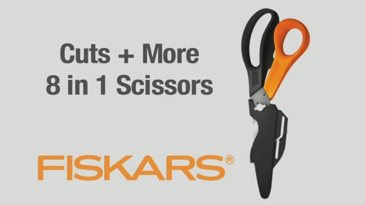 Fiskars Cuts   More 8 in 1 Scissors  - image 1 from the video