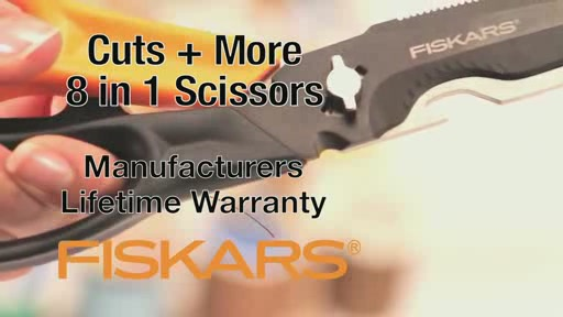 Fiskars Cuts   More 8 in 1 Scissors  - image 10 from the video