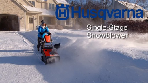Husqvarna Single Stage Snowblower - image 10 from the video