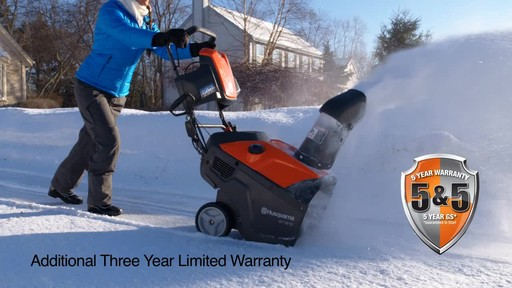 Husqvarna Single Stage Snowblower - image 9 from the video