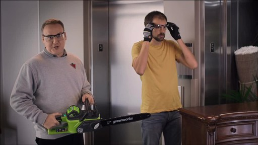 CANADIAN TIRE COMMERCIAL (FALL 2013) – GREENWORKS BRUSHLESS CHAINSAW - image 3 from the video