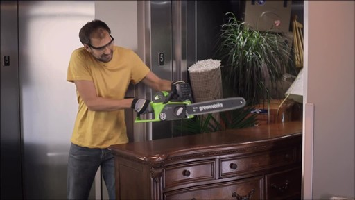 CANADIAN TIRE COMMERCIAL (FALL 2013) – GREENWORKS BRUSHLESS CHAINSAW - image 5 from the video