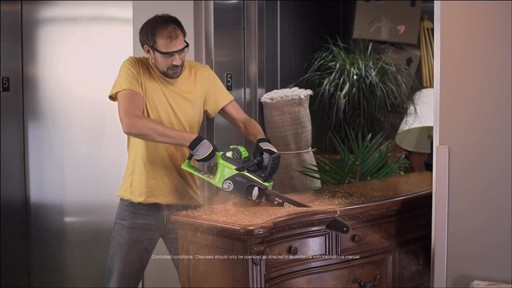 CANADIAN TIRE COMMERCIAL (FALL 2013) – GREENWORKS BRUSHLESS CHAINSAW - image 6 from the video