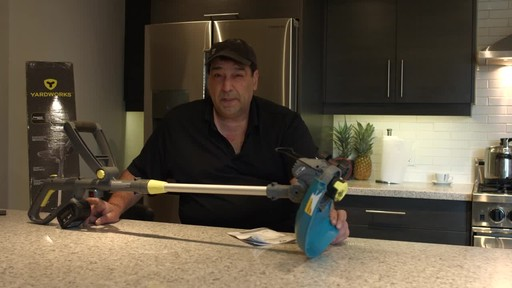Yardworks 24V Li-Ion Demand Feed Cordless Trimmer, 13-in- Ugo's Testimonial - image 7 from the video