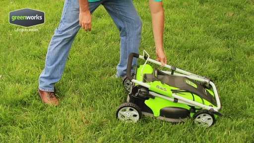 Greenworks 10 A 16-in Electric Lawn Mower - image 10 from the video
