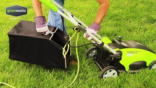 Greenworks 10 A 16-in Electric Lawn Mower - image 2 from the video