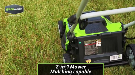 Greenworks 10 A 16-in Electric Lawn Mower - image 6 from the video