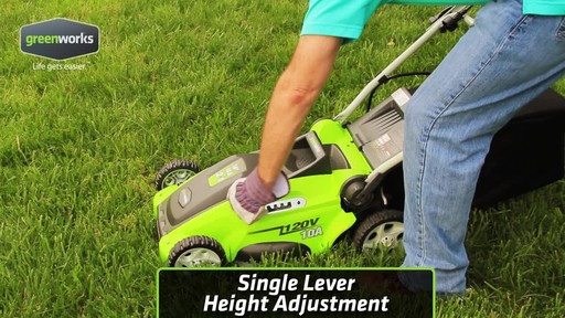 Greenworks 10 A 16-in Electric Lawn Mower - image 7 from the video