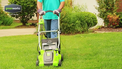 Greenworks 10 A 16-in Electric Lawn Mower - image 8 from the video