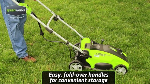 Greenworks 10 A 16-in Electric Lawn Mower - image 9 from the video