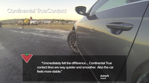 Continental TrueContact™ Tire - Customers' Testimonials - image 2 from the video
