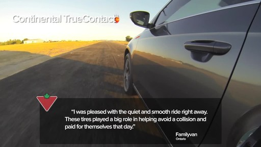 Continental TrueContact™ Tire - Customers' Testimonials - image 4 from the video
