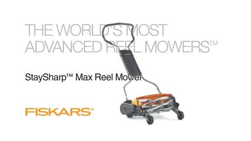 Fiskars StaySharp Max Reel Lawn Mower - image 1 from the video