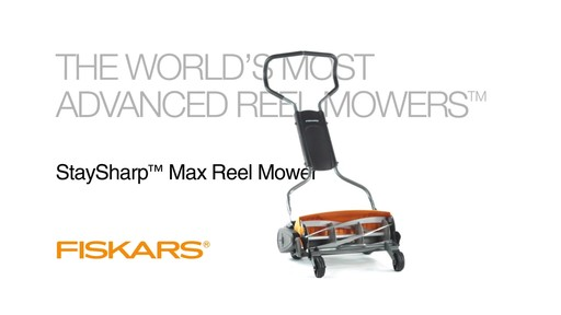 Fiskars StaySharp Max Reel Lawn Mower - image 10 from the video