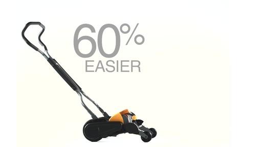 Fiskars StaySharp Max Reel Lawn Mower - image 2 from the video