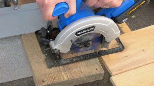 The Mastercraft 20-volt Lithium-Ion Cordless Circular Saw - image 2 from the video