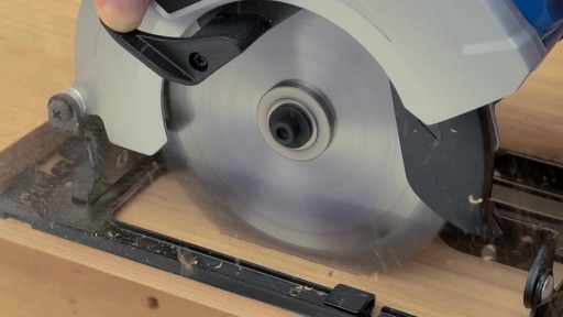 The Mastercraft 20-volt Lithium-Ion Cordless Circular Saw - image 4 from the video