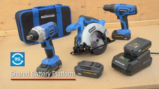 The Mastercraft 20-volt Lithium-Ion Cordless Circular Saw - image 5 from the video