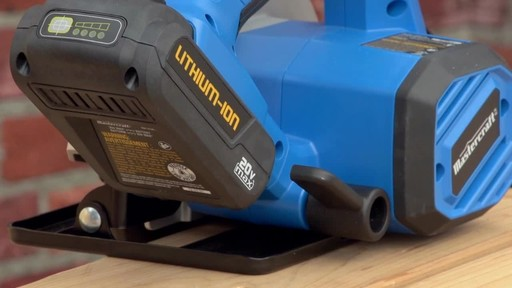 The Mastercraft 20-volt Lithium-Ion Cordless Circular Saw - image 6 from the video
