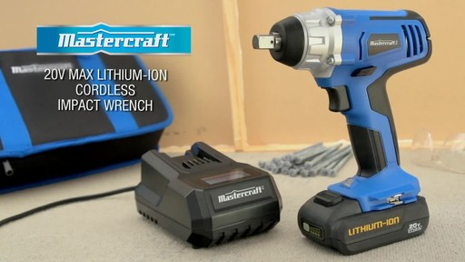 The Mastercraft 20-volt Lithium-Ion Cordless Impact Wrench - image 10 from the video