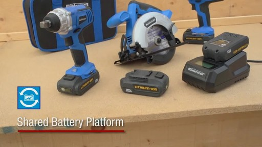 The Mastercraft 20-volt Lithium-Ion Cordless Impact Wrench - image 8 from the video