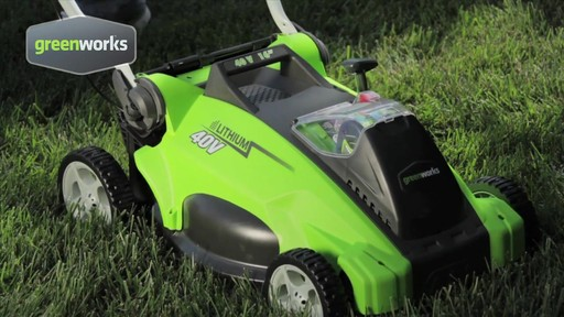 Greenworks 40V 16-in Cordless Lawn Mower - image 4 from the video