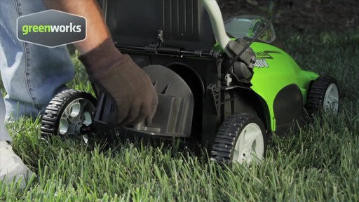 Greenworks 40V 16-in Cordless Lawn Mower - image 5 from the video