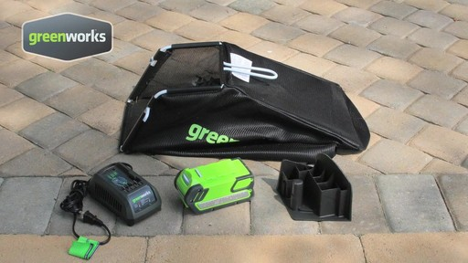 Greenworks 40V 16-in Cordless Lawn Mower - image 6 from the video