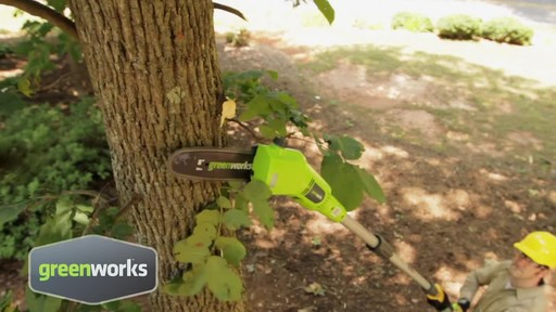 Greenworks 6.5A Electric Polesaw - image 3 from the video