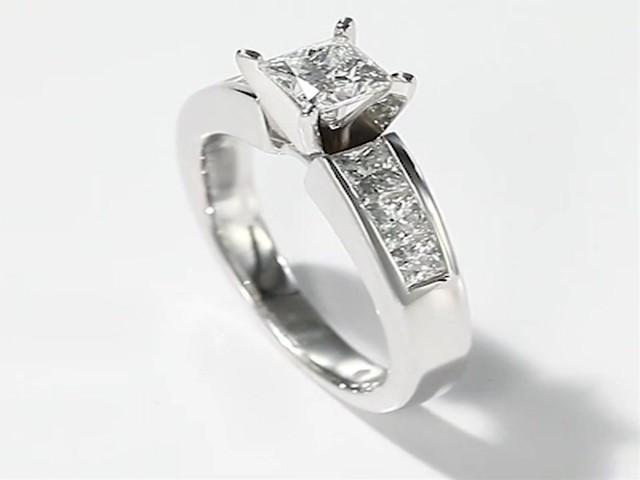 leo ring 1 1 2 ct tw princess cut 14k white gold