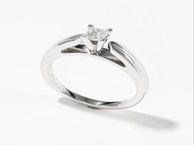 Beautiful 5 Carat Princess Cut Diamond Ring