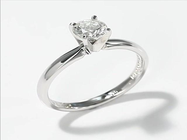 Leo Diamond Ring 3 4 Carat Solitaire 14K White Gold Engagement Rings Weddi