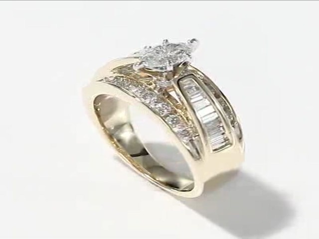 engagement ring 1 1 2 cttw marquise cut 14k yellow