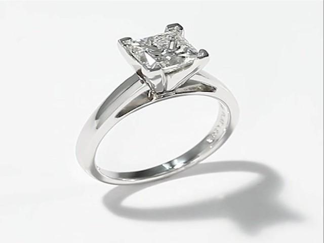 The Leo Diamond 2 Carat Princess cut 14K White Gold Ring Engagement Rings