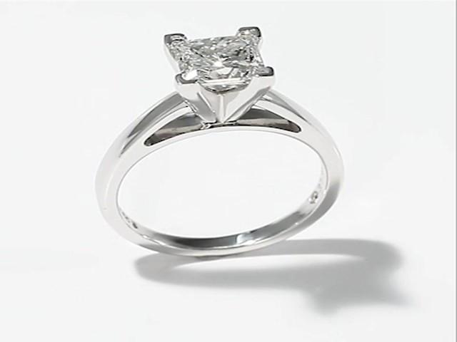 The Leo Diamond  Carat Solitaire Ring K White Gold