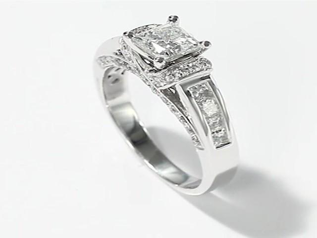 Diamond Engagement Ring White Gold