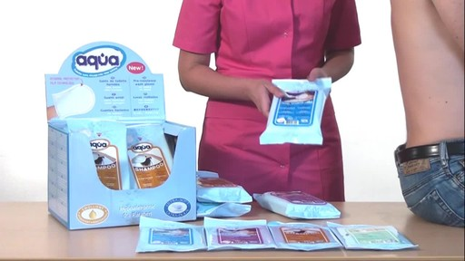 CLEANIS Aqua Pre-Moistened Wash Gloves product | drugstore.com - image 3 from the video
