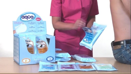 CLEANIS Aqua Pre-Moistened Wash Gloves product | drugstore.com - image 4 from the video