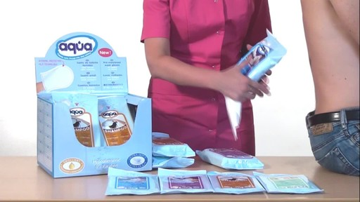 CLEANIS Aqua Pre-Moistened Wash Gloves product | drugstore.com - image 5 from the video