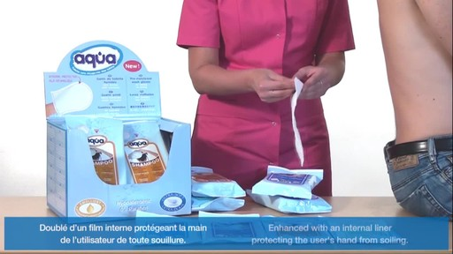 CLEANIS Aqua Pre-Moistened Wash Gloves product | drugstore.com - image 6 from the video