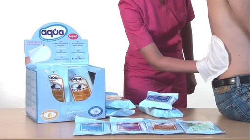 CLEANIS Aqua Pre-Moistened Wash Gloves product | drugstore.com - image 8 from the video