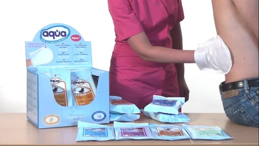 CLEANIS Aqua Pre-Moistened Wash Gloves product | drugstore.com - image 9 from the video