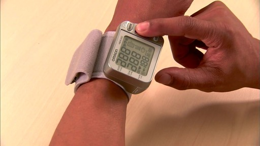Omron 3 Series Wrist Blood Pressure Monitor, Model BP629 | drugstore.com - image 5 from the video
