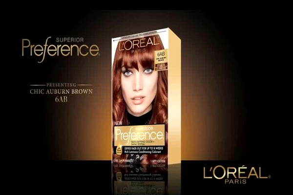 L'Oreal Paris Preference Fade-Defying Color   Shine System, 6AB Chic Auburn Brown | drugstore.com - image 2 from the video