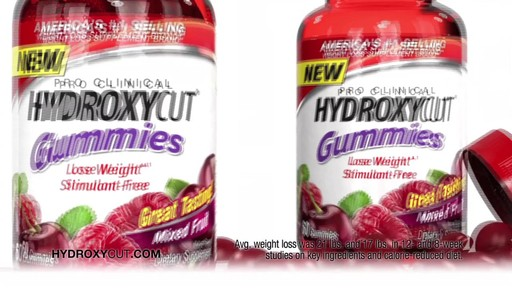 Hydroxycut Pro Clinical Weight Loss Gummies, Mixed Fruit product | drugstore.com - image 4 from the video