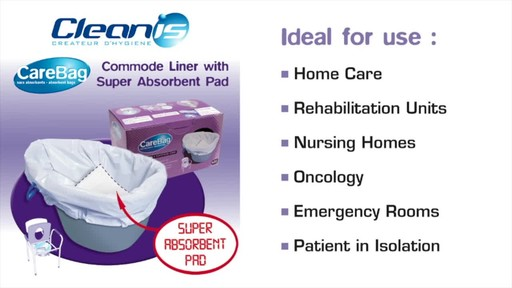 CLEANIS CareBag Commode Liner with Super Absorbent Pad product | drugstore.com - image 1 from the video